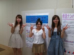 miniココロサイコロin福島 説明にあたった学生たち