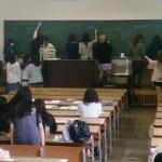 進路決定支援授業キックオフ講義の様子(1)