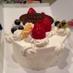 写真2 サプライズのバースデイケーキ